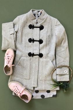casaco lã com alamares tita catita