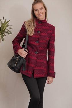 casaco lã estampado tita catita
