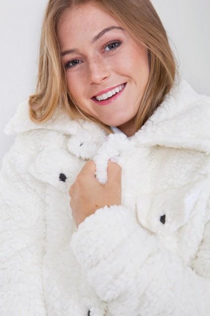 jaqueta fluffy tita catita