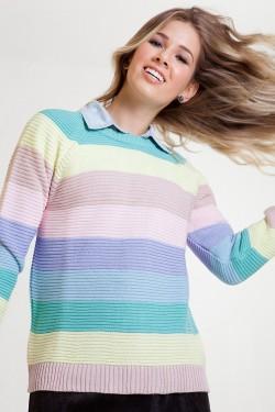 tricô arco-íris tita catita